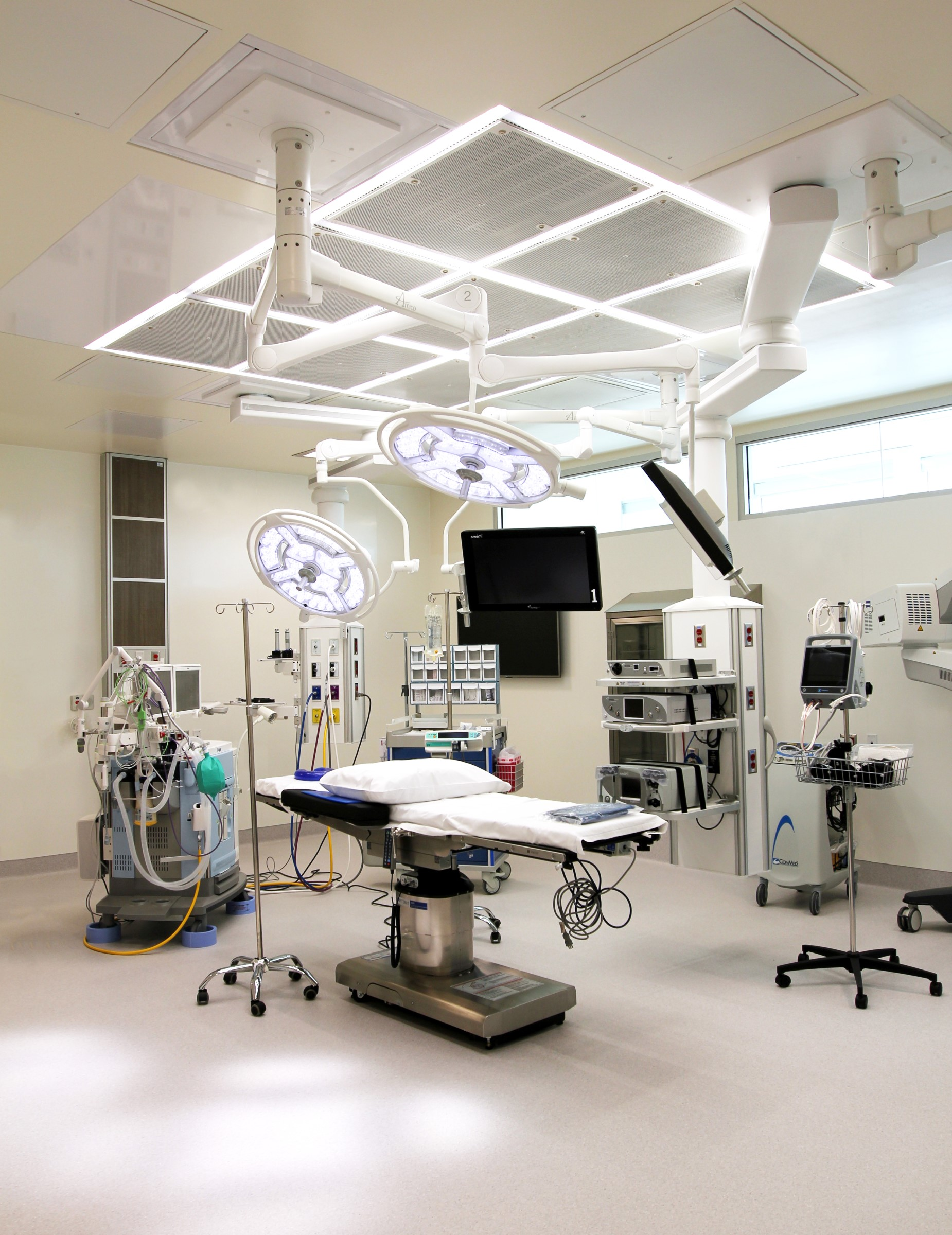 Operating room ceiling